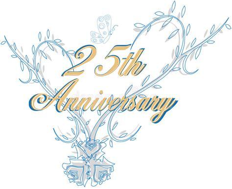 illustration now 25th anniversary 3836505096 25th wedding anniversary stock vector illustration of rose 11632628