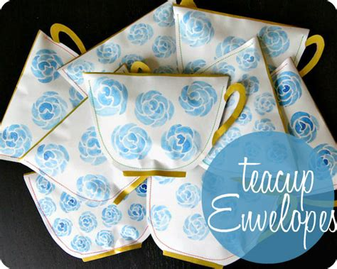 diy teacup shaped envelopes oh my handmade