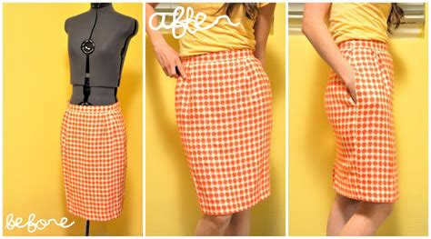 quot taking in a skirt to make smaller or a pencil skirt