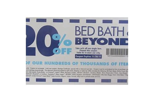 bed bath and beyond coupon policy 2018