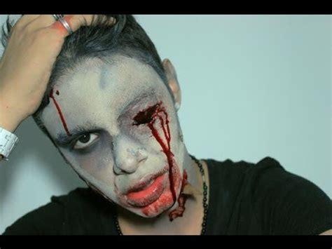 tutorial de zombie maquillaje tutorial de halloween zombie youtube