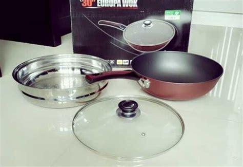 Panci Besar Aluminium panci wajan wokpan steamer besar diameter 30 cm 5 fungsi