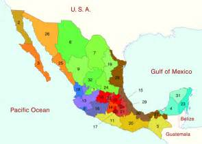 Map Of States Of Mexico by Map Of Mexico And Mexican States