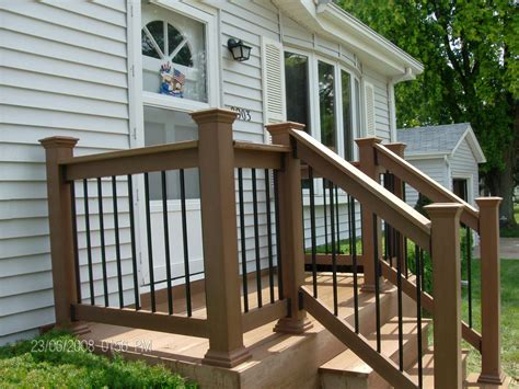 exterior wooden porch railing designs and steel railing