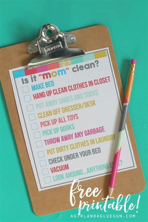 how to keep your room clean is it quot mom quot clean bedroom checklist printables room