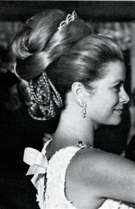 The Waltz Gracie hsh princess grace of monaco hair upswept bejeweled in emerald and earrings and