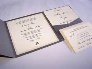 thermography wedding invitations grey pocket fold wedding invitation thermography wedding