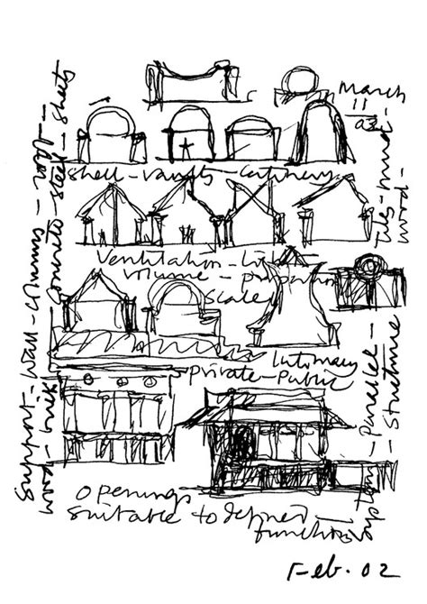 B V Doshi Sketches by B V Doshi S Drawings Reveal The Identity Of His Work
