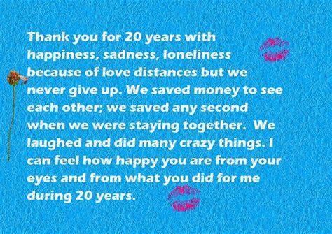 Happy 20th Anniversary Quotes Wishes and Images   Words of