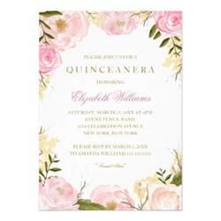 pink quinceanera invitation zazzle