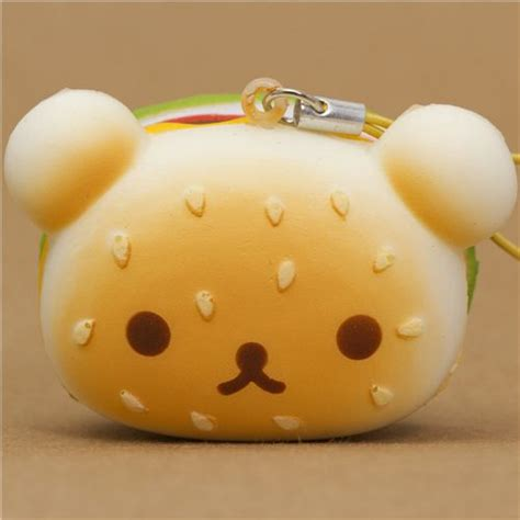 imagenes de hamburguesas kawaii rilakkuma bear hamburger squishy cellphone charm food