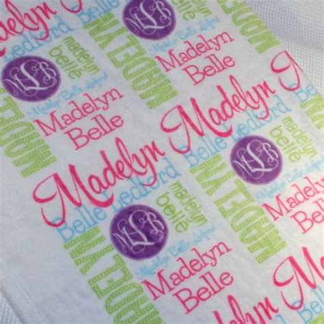 personalized throw blankets with picture personalized blanket monogrammed throw by monogrammarketplace