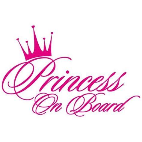 princess on board baby crown window vinyl decal sticker pc 02 ebay