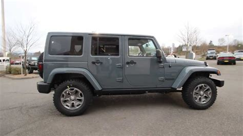 jeep gray wrangler 2014 jeep wrangler unlimited rubicon anvil clearcoat