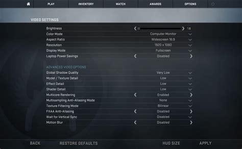 go to video cs go best settings options guide prosettings net