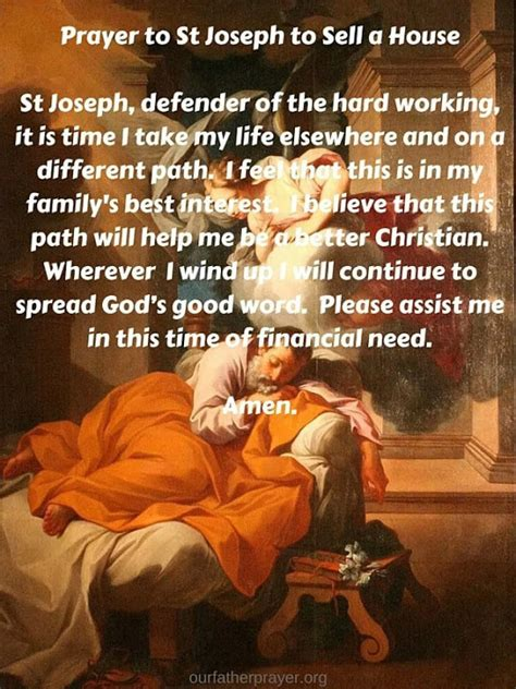 st joseph selling house our father prayer google