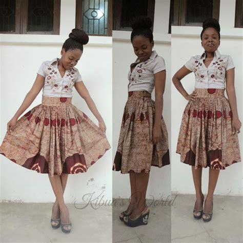 african dress skirt style 2014 kibua designs high waist kitenge skirt