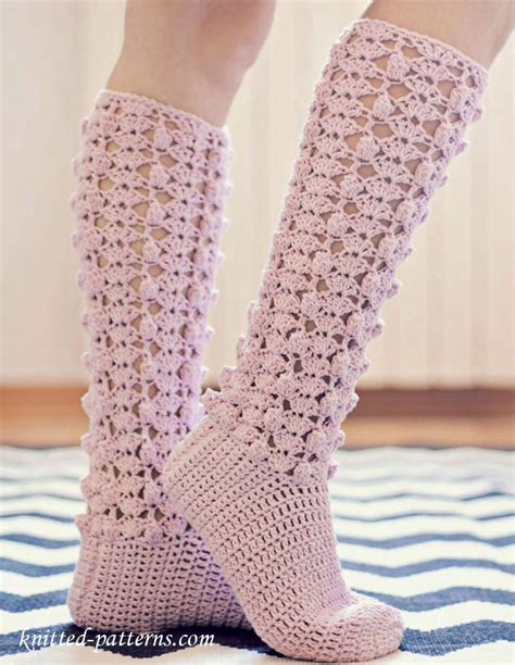pattern crochet socks crochet knee high socks