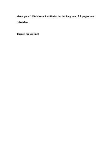 2000 nissan pathfinder service repair manual download