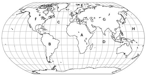 printable quiz continents and oceans map of the world quiz