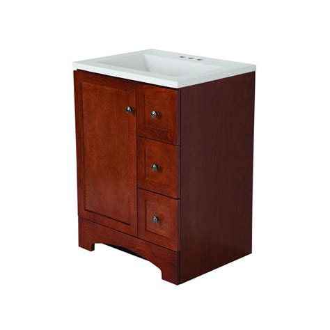 glacier bay all in one 24 in w vanity combo in with