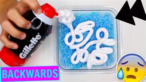 tutorial slime malaysia making slime backwards satisfying reverse slime making