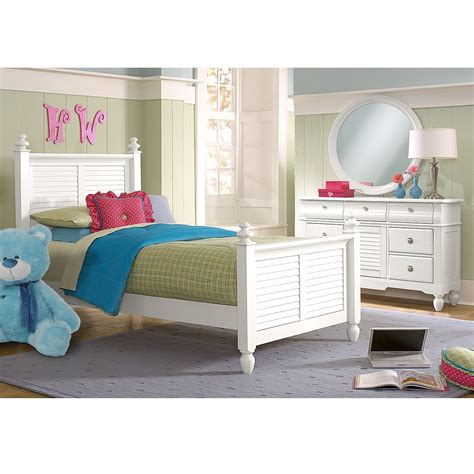 twin white bedroom set seaside 5 piece twin bedroom set white value city