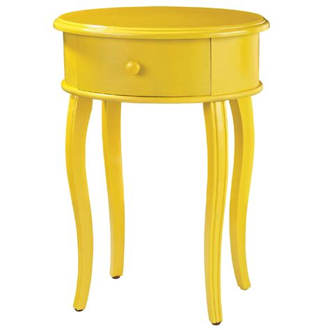 Yellow Accent Table District17 Accent Table In Yellow With Drawer Tables Nightstands