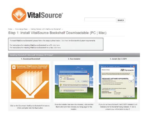 vitalsource bookshelf driverlayer search engine