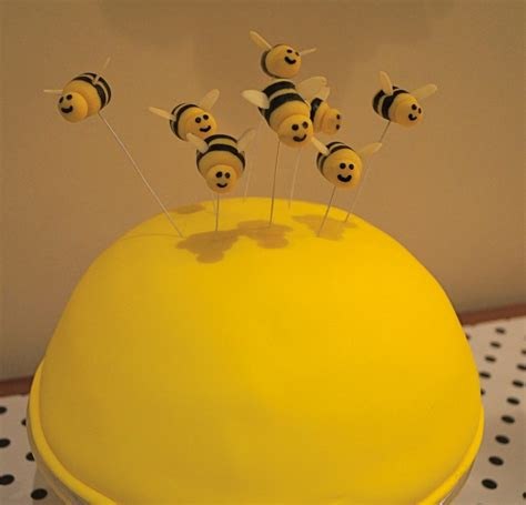 Bee Cake Decorations by Recipe Marzipan Bumble Bee Cake Topper Tutorial