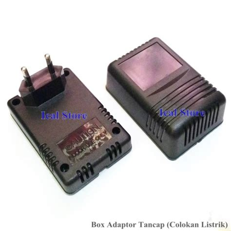 Adaptor Listrik kotak adaptor hitam tancap ical store ical store