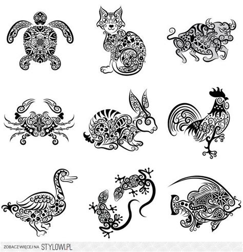 pattern animal tattoo quilling na stylowi pl