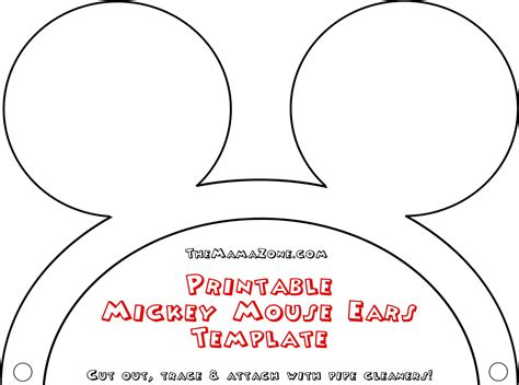 mickey mouse ears template headband cliparts co