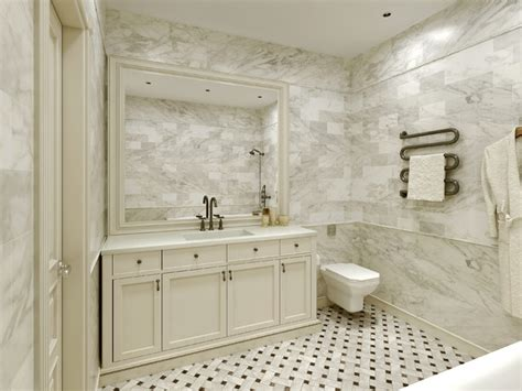 Carrara Marble Bathroom Ideas | carrara marble tile white bathroom design ideas modern