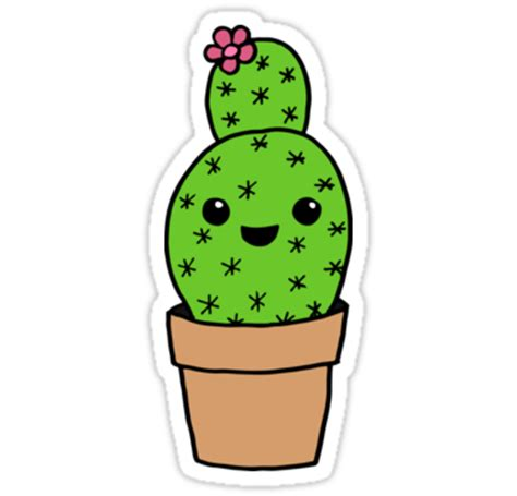 """cute cactus"" stickers by antaya fox 