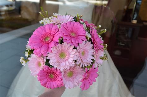 Pink Daisy Wedding Bouquet