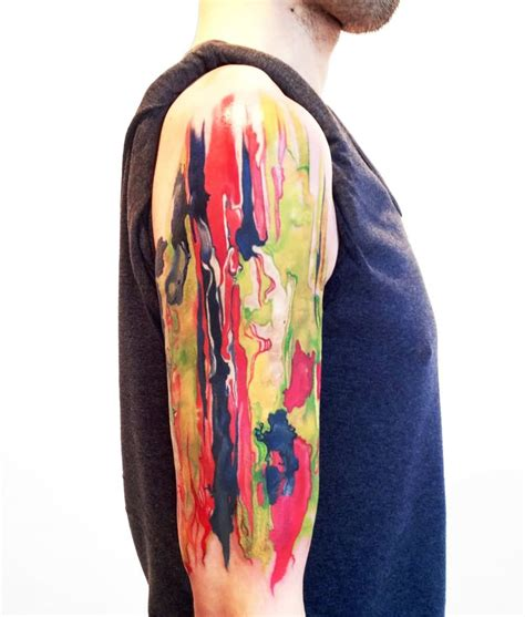 watercolor tattoo sleeve watercolor flowers design for half sleeve