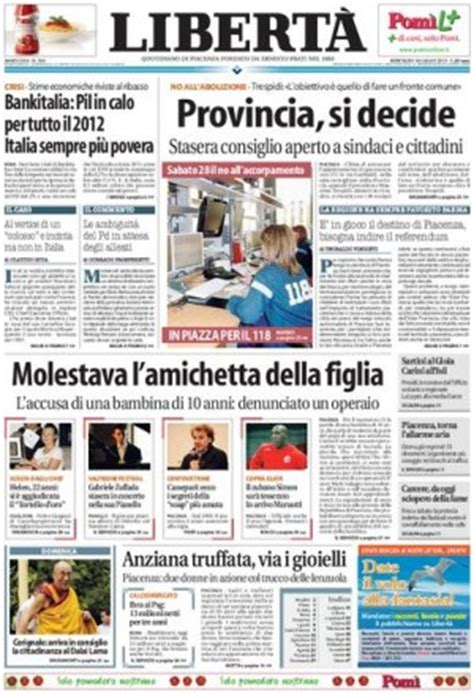 di piacenza on line liberta quotidiano