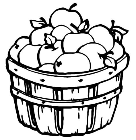 apple barrel coloring pages basket full of apples coloring page coloring page