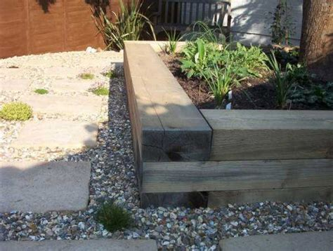 Raised Beds Sleepers by How To Build A Raised Bed With Railway Sleepers
