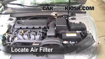 how do cars engines work 2007 hyundai sonata auto manual air filter how to 2006 2010 hyundai sonata 2007 hyundai sonata se 3 3l v6