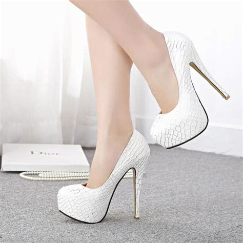 Snake Skin Pumps Heels Korean Shoes white high heels pumps fs heel