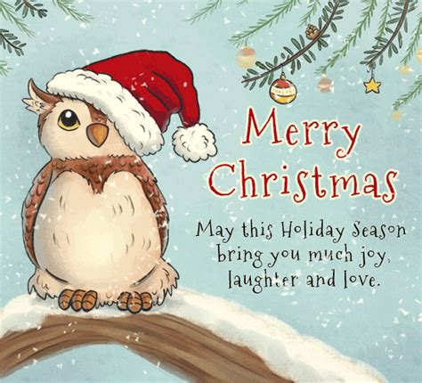 merry christmas owl  merry christmas wishes ecards greeting cards