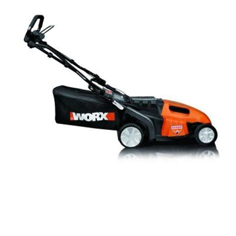 worx 19 in walk cordless electric lawn mower wg789
