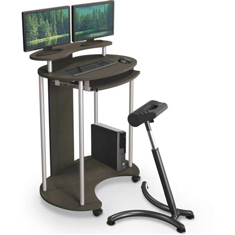 Mobile Stand Up Desk by Balt Up Rite Standing Mobile Workstation 91105 Stand