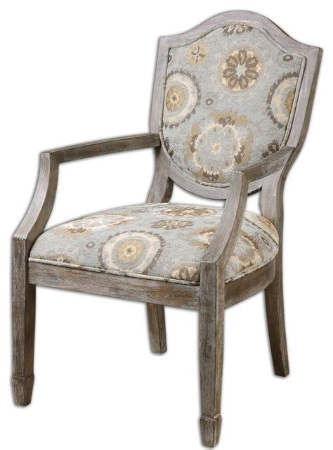 Blue Gray Accent Chairs Uttermost Luxe Floral Medalllion Blue Gray Armchair Armchairs And Accent Chairs Houzz