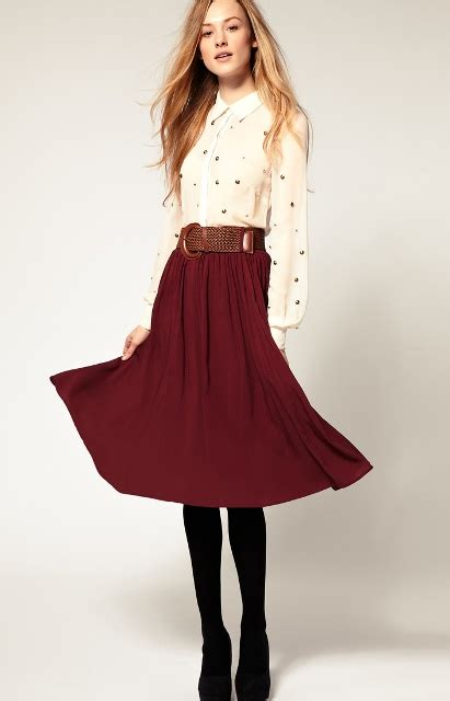 Girly Midi midi skirt trends for