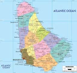 Barbados World Map by Political Map Of Barbados Ezilon Maps