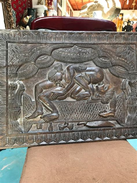 karma sutra couch handcarved karma sutra wooden panel
