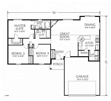 2 bedroom house plans with attached garage